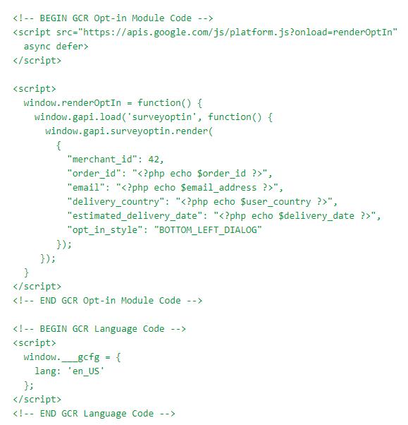Deberás insertar un código como este dentro de la etiqueta antes de