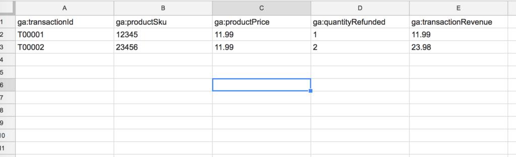 Detalle de pedidos en Excel