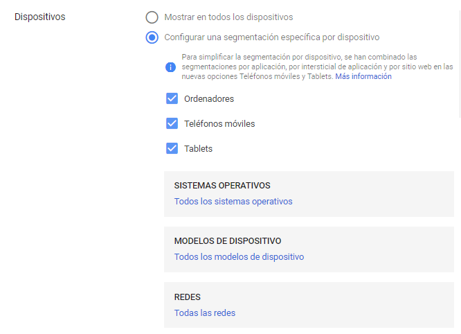 Display Google Ads Exclusiones