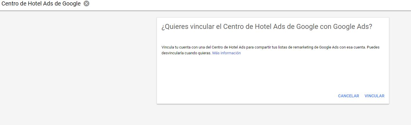 Vinculo Google Ads y Hotel Ads