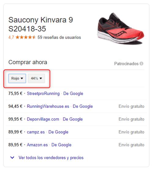 SERP Google Shopping