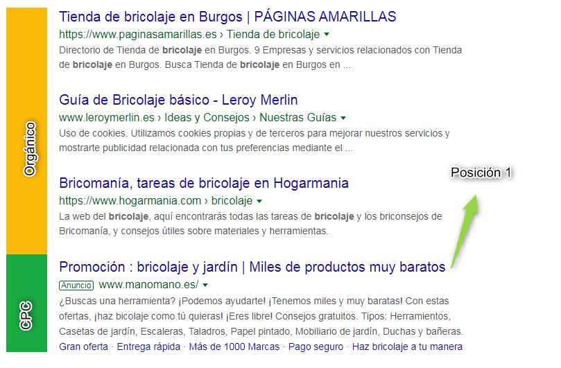 Posición 1 Google