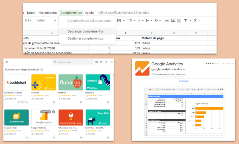 Complementos Hojas Cálculo Google